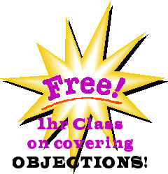 Free web based sales training - The topic is covering objections